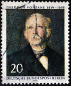 GERMANY - CIRCA 1970: A stamp printed in Germany shows Theodore Fontane, circa 1970 — Stock Photo