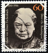 GERMANY - CIRCA 1980: A stamp printed in Germany, is dedicated to the 150th anniversary of the birth Baroness Marie von Ebner-Eschenbach, circa 1980 — Foto Stock