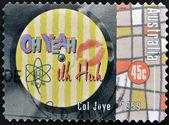AUSTRALIA - CIRCA 1998: A stamp printed in Australia dedicated to Col Joye, circa 1998 — Stok fotoğraf