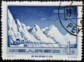 CHINA - CIRCA 1956: A Stamp printed in China shows Kozo the Qinghai, Tibet Highway, circa 1956 — Stock Photo