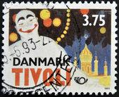DENMARK - CIRCA 1993: A stamp printed in Denmark dedicated to Tivoli, circa 1993 — Stock Photo