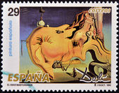 SPAIN - CIRCA 1994: A stamp printed in Spain shows The Great Masturbator by Salvador Dali, circa 1994 — 图库照片