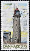 Dinamarca - cerca de 1996: um selo imprimido na dinamarca mostra o farol de fornaes, por volta de 1996 — Foto Stock