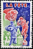 FRANCE - CIRCA 1976: A stamp printed in France dedicated to the party, circa 1976 — Stock Photo