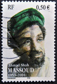 FRANCE - CIRCA 2003: A stamp printed in France shows ahmad shah massoud, circa 2003 — Stock Photo