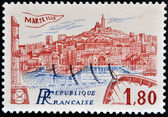 FRANCE - CIRCA 1983: A stamp printed in France shows Marseilles, circa 1983 — Stock Photo
