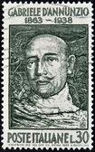 ITALY - CIRCA 1963: A stamp printed in Italy shows Gabriele d'Annunzio, circa 1963 — Photo