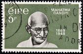 IRELAND - CIRCA 1969 : A stamp printed in Ireland shows Mahatma Gandhi, circa 1969 — Stock Photo
