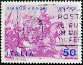 ITALY - CIRCA 1970: A stamp printed in Italy, shows the Garibaldi at Battle of Dijon, circa 1970 — Stock Photo