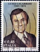 ITALY - CIRCA 2005: A stamp printed in Italy shows Luigi Calabresi, circa 2005 — Stock Photo