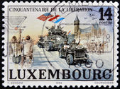 LUXEMBOURG - CIRCA 1994: A stamp printed in Luxembourg shows the liberation of fascism in Europe, circa 1994 — Стоковое фото