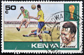 KENYA - CIRCA 1978: A stamp printed in Kenya shows Joe Kadenge, circa 1978. — Стоковое фото