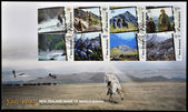 NEW ZEALAND - CIRCA 2004: postcard printed in New Zealand, shows Scenes from The Lord of the Rings, circa 2004 — Stock Photo
