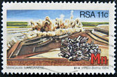 SOUTH AFRICA - CIRCA 1984: A stamp printed in RSA shows manganese, circa 1984 — Stock Photo