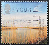 UNITED KINGDOM - CIRCA 2000: A stamp printed in Great Britain dedicated to millennium, shows ecos, Ballymena, circa 2000 — Stock Photo