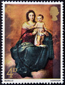 UNITED KINGDOM - CIRCA 1968: A stamp printed in the Great Britain shows Madonna and Child by Murillo, circa 1968 — Foto Stock
