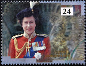 UNITED KINGDOM - CIRCA 1992: A stamp printed in England, is dedicated to the 40th anniversary of accession to the throne, shows Queen Elizabeth II, circa 1992 — Stock Photo