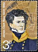 UNITED KINGDOM - CIRCA 1972: A stamp printed in Great Britain shows James Clark Ross, circa 1972 — Stock Photo