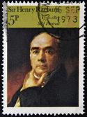 UNITED KINGDOM - CIRCA 1973: A stamp printed in Great Britain shows self portrait by Henry Raeburn, circa 1973 — Stock Photo