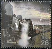UNITED KINGDOM - CIRCA 2000: A stamp printed in Great Britain dedicated to millenium shows garratt steam locomotive, circa 2000 — Stock Photo