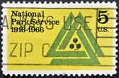 UNITED STATES OF AMERICA - CIRCA 1966: A stamp printed in USA dedicated to 50th anniv. of the National Park Service, circa 1966 — Stock Photo