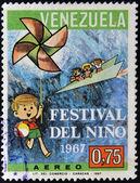 VENEZUELA - CIRCA 1967: A stamp printed in Venezuela dedicated to children's festival, circa 1967 — Stock Photo
