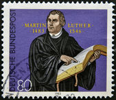 GERMANY - CIRCA 1983: A stamp printed in Germany shows Martin Luther, circa 1983 — Stock Photo