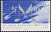 GERMANY- CIRCA 2003: stamp printed in Germany shows Music theme , circa 2003. — Стоковое фото
