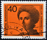GERMANY - CIRCA 1974: A stamp printed in the German Federal Republic shows Rosa Luxemburg, circa 1974 — Stock Photo