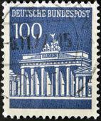GERMANY - CIRCA 1965: A stamp printed in Germany shows Brandenburg Gate, circa 1965 — Stock Photo