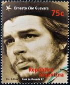 ARGENTINA - CIRCA 1997: A stamp printed in Argentina shows Ernesto Che Guevara, circa 1997 — Stock Photo