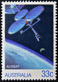 AUSTRALIA - CIRCA 1986: A stamp printed in ustraia shows AUSSAT, circa 1986 — Foto Stock