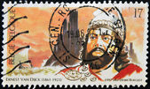 BELGIUM - CIRCA 1997: A stamp printed in Belgium shows Ernest Van Dijck, circa 1997 — Stock Photo