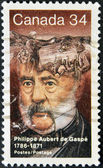 CANADA - CIRCA 1986: stamp printed in Canada shows Philippe Aubert de Gaspe, Novelist, circa 1986 — Stock Photo