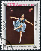 "CUBA - CIRCA 1978: A stamp printed in Cuba shows ballet ""Giselle"", circa 1978 — Stock Photo"