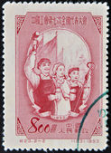 CHINA - CIRCA 1953: A stamp printed in china dedicated to Chinese popular revolution, circa 1953 — Stock Photo