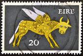 IRELAND - CIRCA 1979: A stamp printed in Ireland shows the constellation of Taurus, circa 1979. — Stock Photo