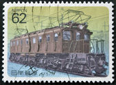 JAPAN - CIRCA 1990: A stamp printed in Japan shows Electric Locomotives, circa 1990 — Stock Photo