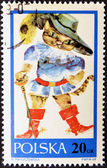 POLAND - CIRCA 1968: a stamp printed in Poland, shows drawing from tale 'Puss in Boots', circa 1968 — Stock Photo