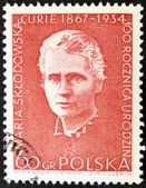 POLAND - CIRCA 1984: A stamp printed in Poland shows Marie Sklodowska Curie, circa 1984. — Stock Photo
