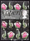 UNITED KINGDOM - CIRCA 1982: A stamp printed in Great Britain shows british textiles, steiner % co, circa 1982 — Stock Photo