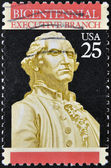 USA - CIRCA 1989: A stamp printed in the USA, dedicated to the 200th anniversary of the Constitution, shows George Washington, circa 1989 — Stock Photo