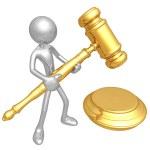 3D Judicial Gavel — Stock Photo