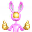 Easter Bunny Two Thumbs Up — Stock Photo #7965879