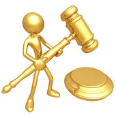 3D Judicial Gavel — Stock Photo