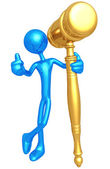 Golden Gavel — Stock Photo
