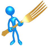 Golden Fork — Stock Photo
