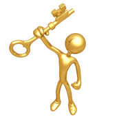 Gold Key — Stock Photo