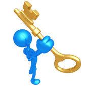 Gold Key — Stock Photo
