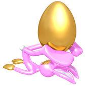 Easter Bunny Easter Egg Pilates — Stock Photo